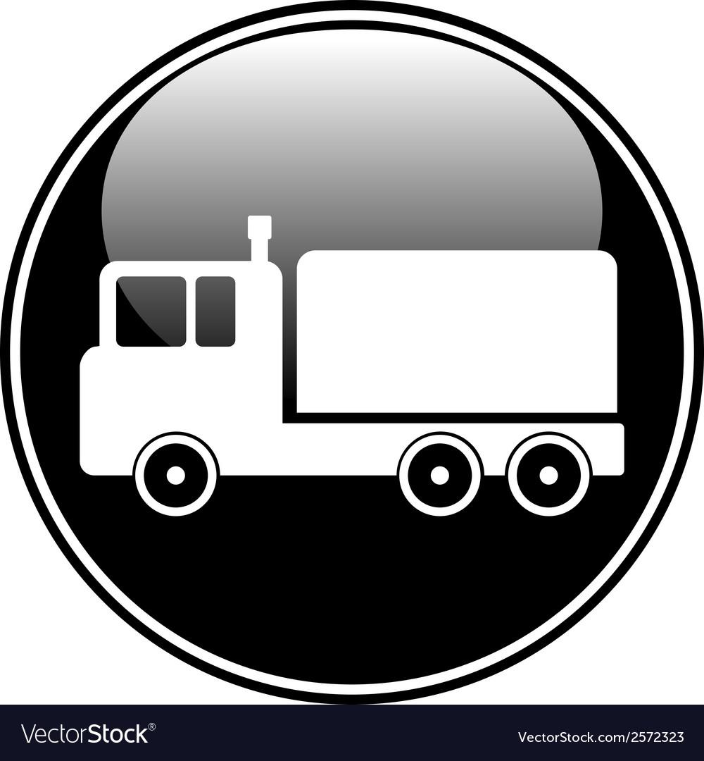 Cargo car button vector | Price: 1 Credit (USD $1)