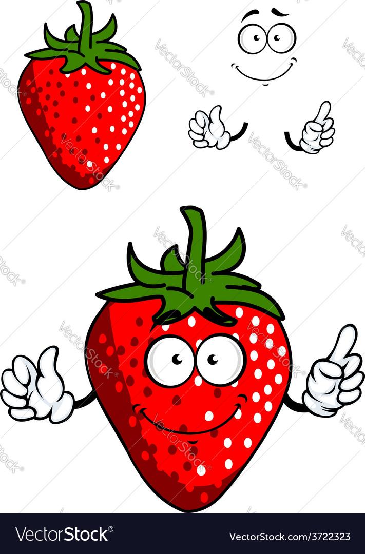 Cartoon fresh red strawberry vector | Price: 1 Credit (USD $1)
