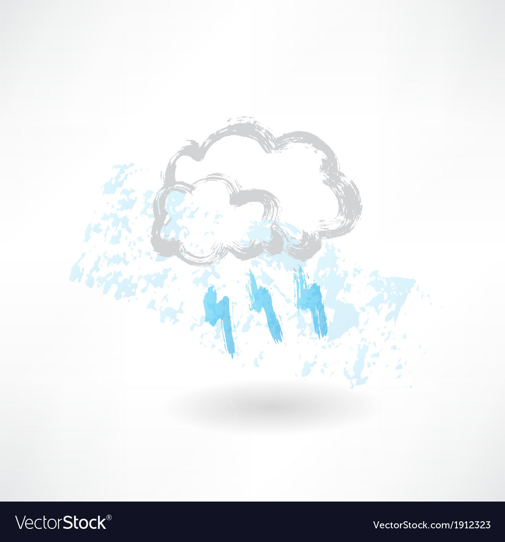 Grey cloud grunge icon vector | Price: 1 Credit (USD $1)