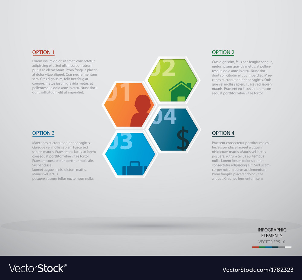 Hexagon infographic vector | Price: 1 Credit (USD $1)