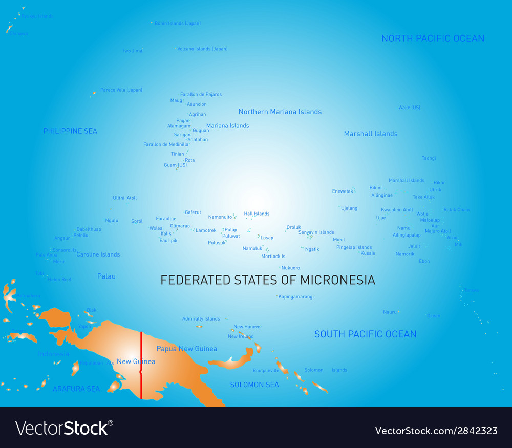 Micronesia vector | Price: 1 Credit (USD $1)