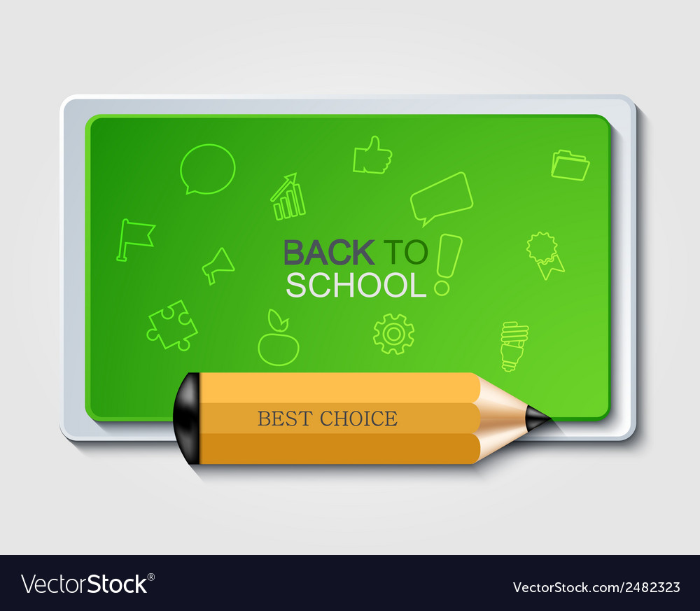 Modern back to school background vector | Price: 1 Credit (USD $1)