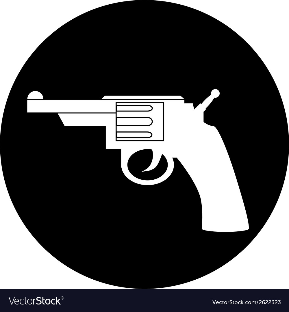 Revolver button vector | Price: 1 Credit (USD $1)