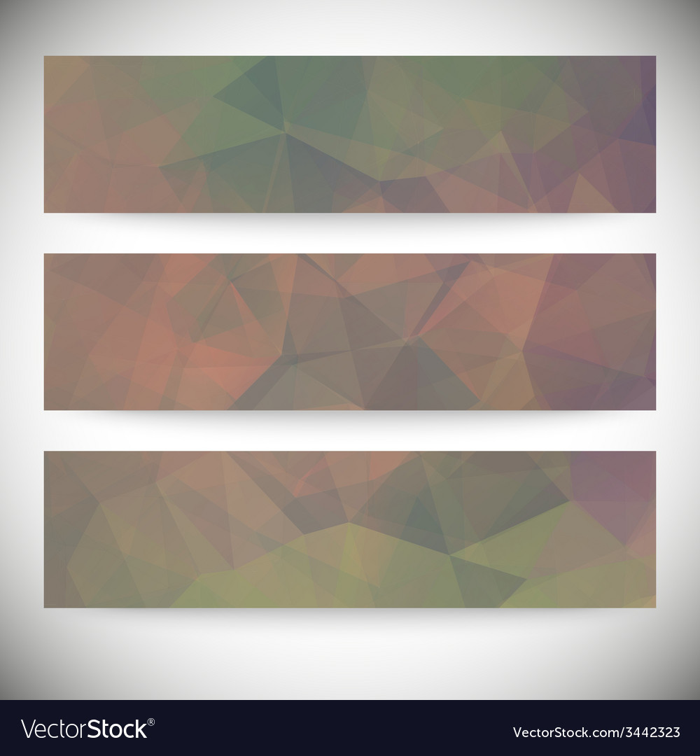 Set of horizontal banners abstract background vector | Price: 1 Credit (USD $1)