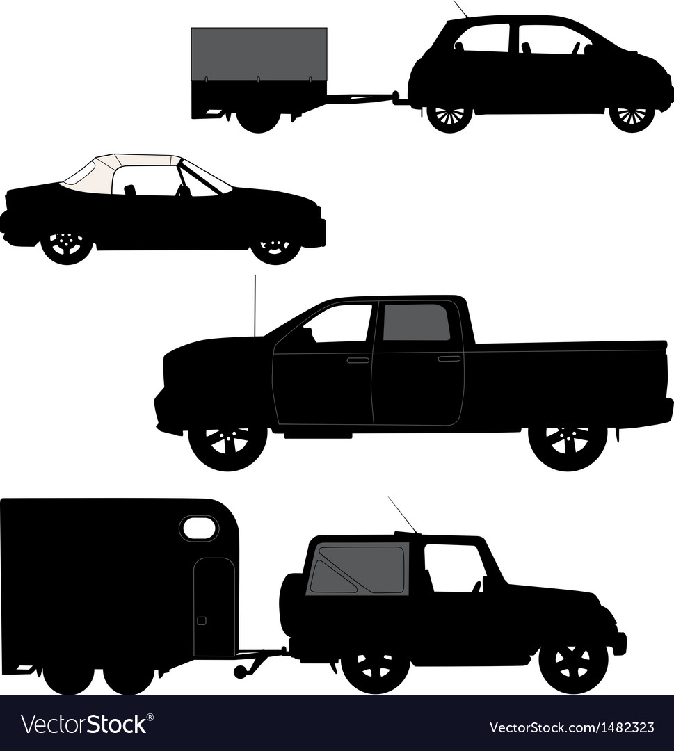 Transportation icons collection - car silhouette vector | Price: 1 Credit (USD $1)
