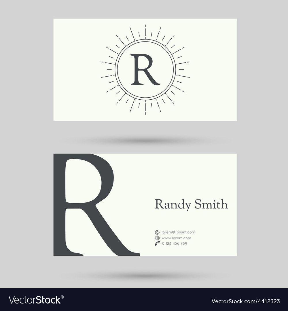 Trendy business card template vector | Price: 1 Credit (USD $1)