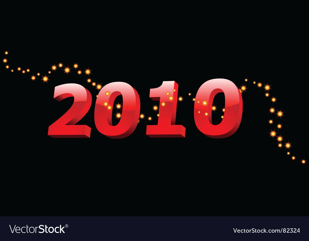 2010 year vector | Price: 1 Credit (USD $1)