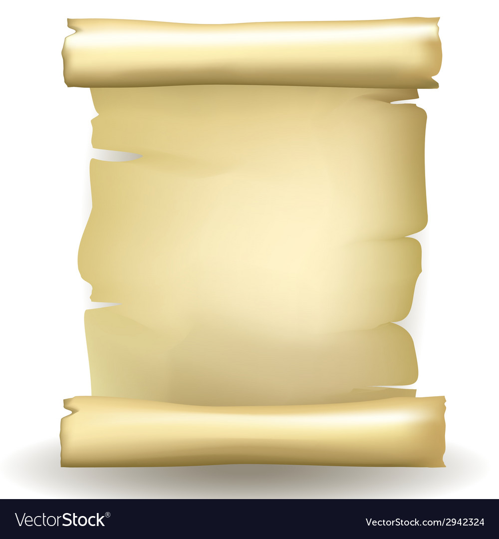 Ancient blank aged worn paper scroll vector   Price: 1 Credit (USD $1)