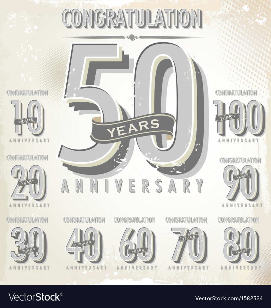 Anniversary sign collection vector | Price: 1 Credit (USD $1)