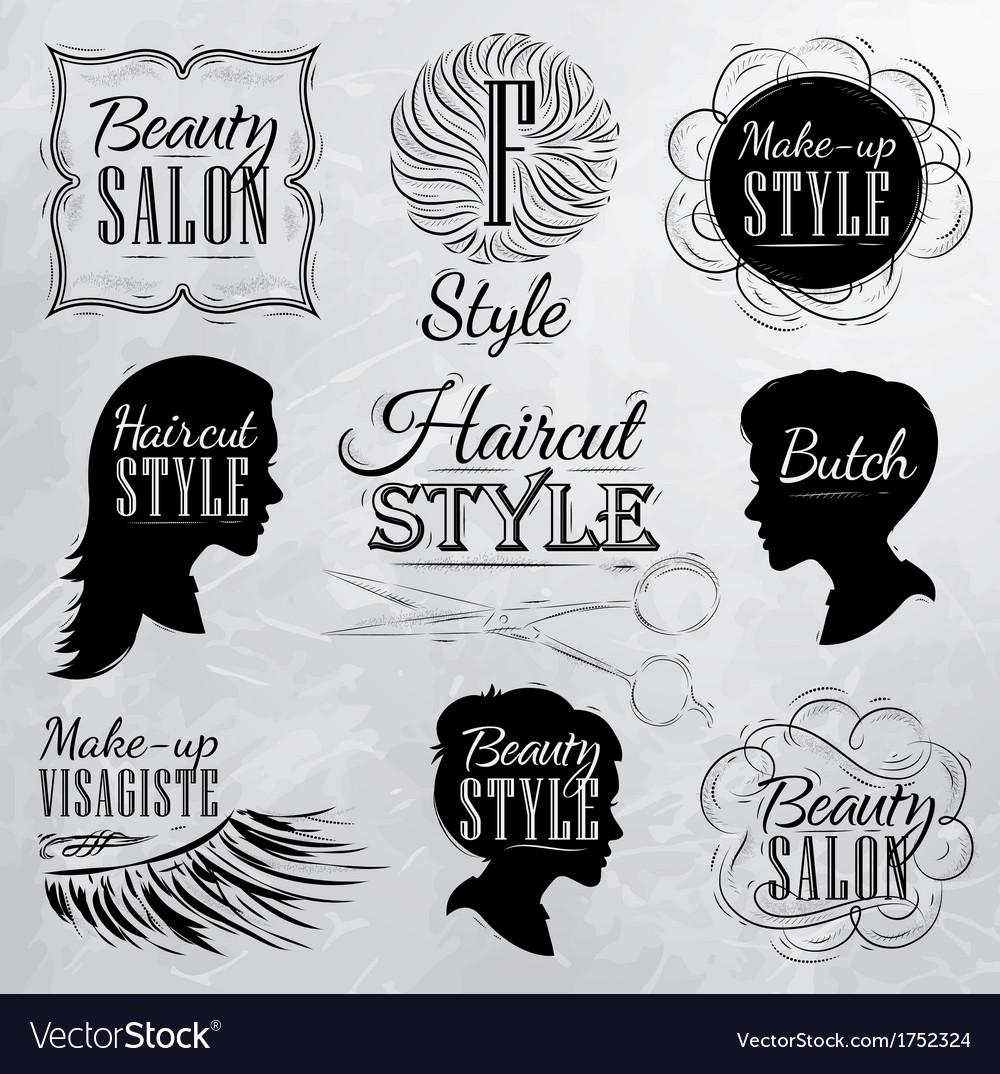 Beauty salon coal vector | Price: 1 Credit (USD $1)