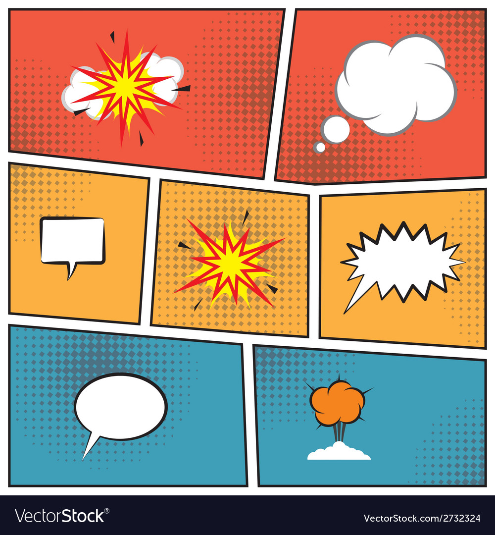 Blank speech bubbles vector | Price: 1 Credit (USD $1)