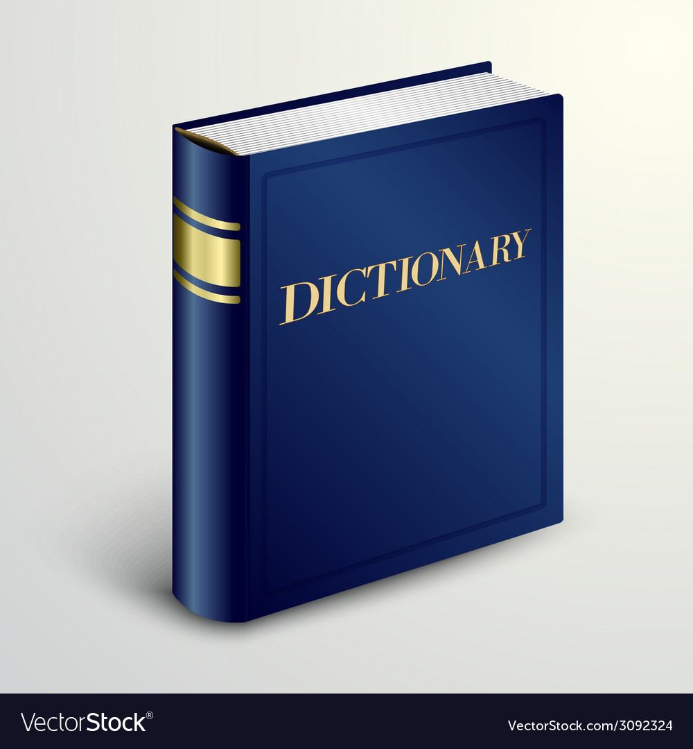 Blue dictionary book vector | Price: 1 Credit (USD $1)