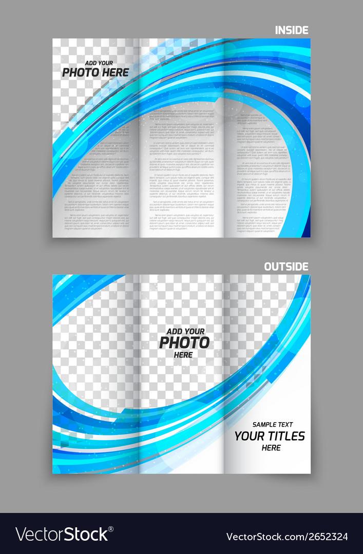 Blue tri fold brochure vector   Price: 1 Credit (USD $1)