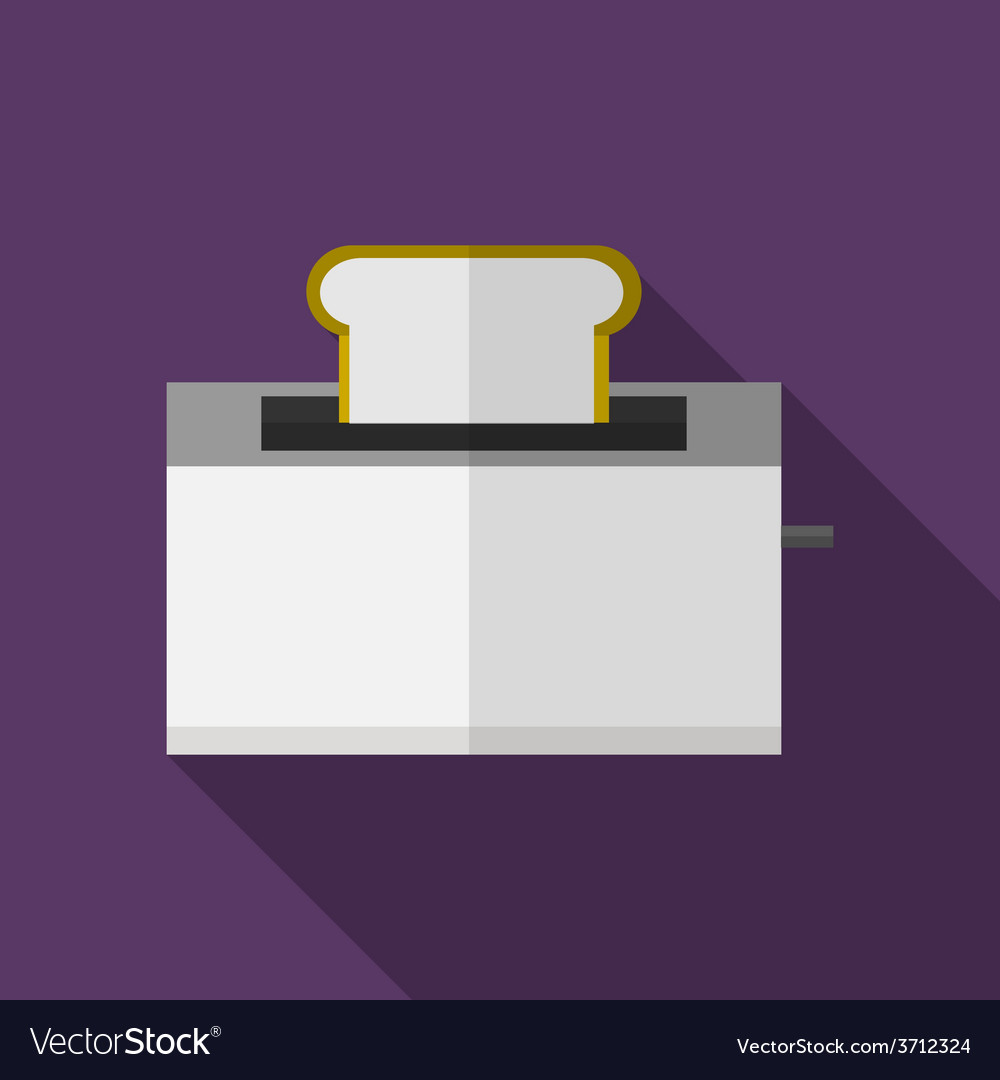 Bread toaster flat icon vector | Price: 1 Credit (USD $1)