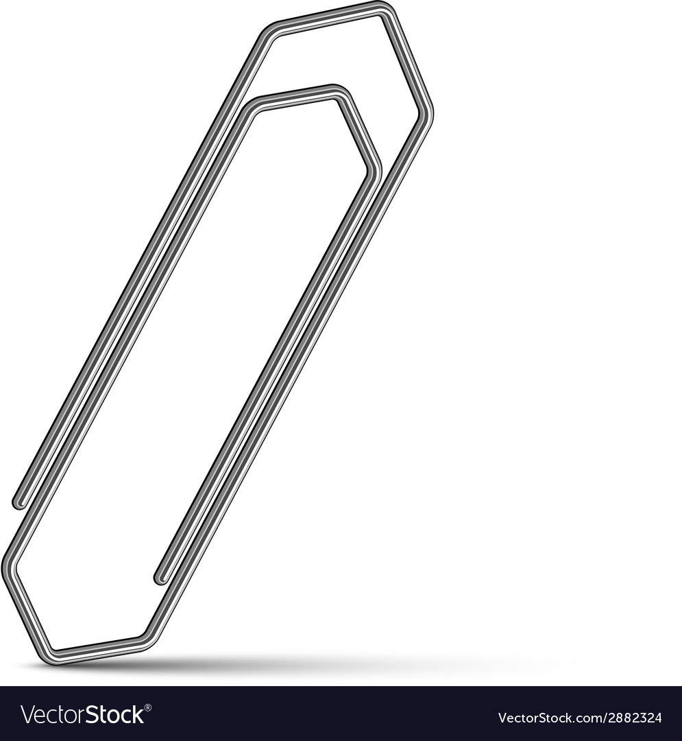 Chrome paperclip vector | Price: 1 Credit (USD $1)