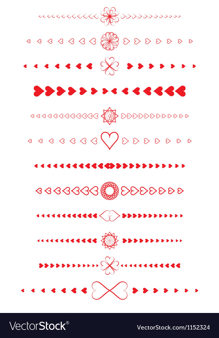 Design elements made of valentines vector | Price: 1 Credit (USD $1)