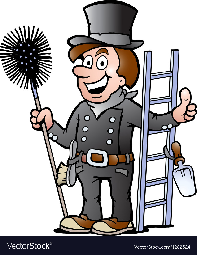 Happy chimney sweep vector | Price: 3 Credit (USD $3)