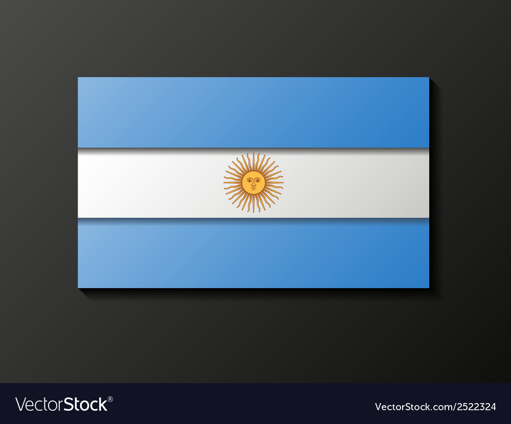 Modern style argentinean flag vector | Price: 1 Credit (USD $1)