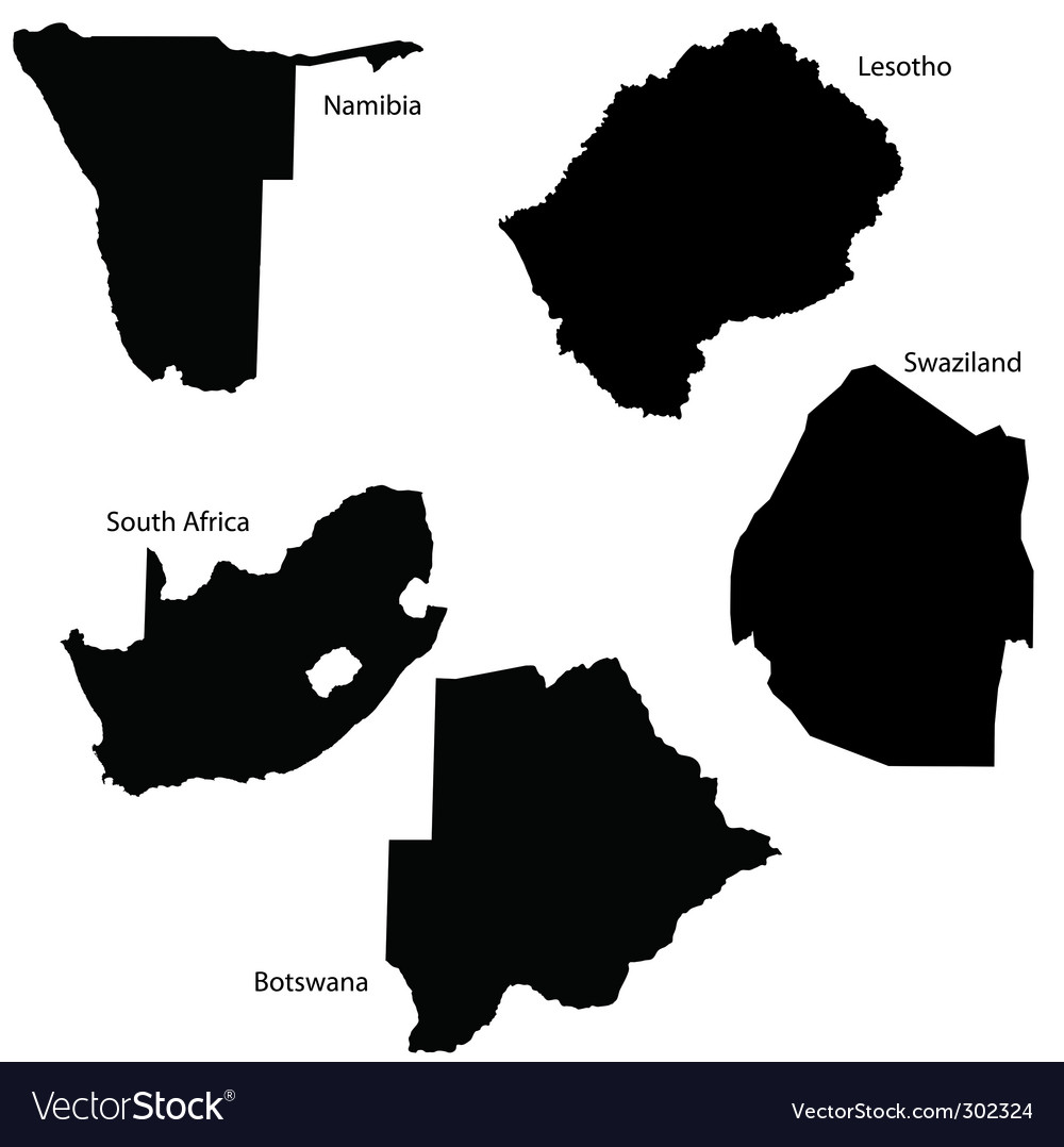 South africa map vector | Price: 1 Credit (USD $1)
