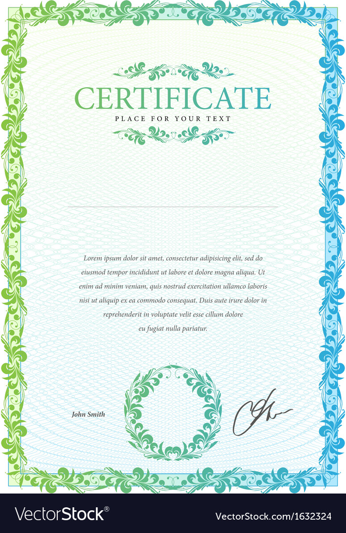 Template that is used in certificate currency and vector   Price: 1 Credit (USD $1)