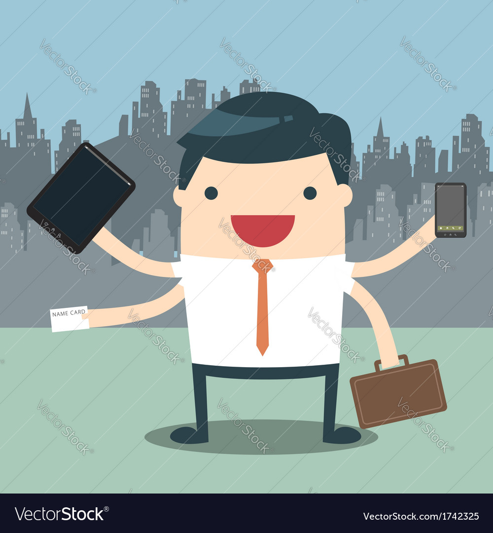 Businessman hard work vector | Price: 1 Credit (USD $1)