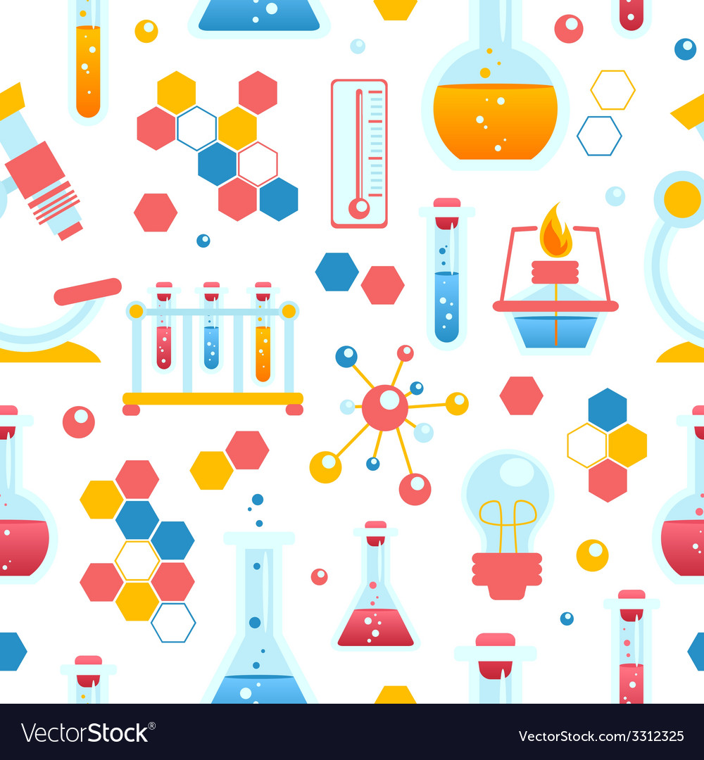 Chemistry seamless pattern vector | Price: 1 Credit (USD $1)