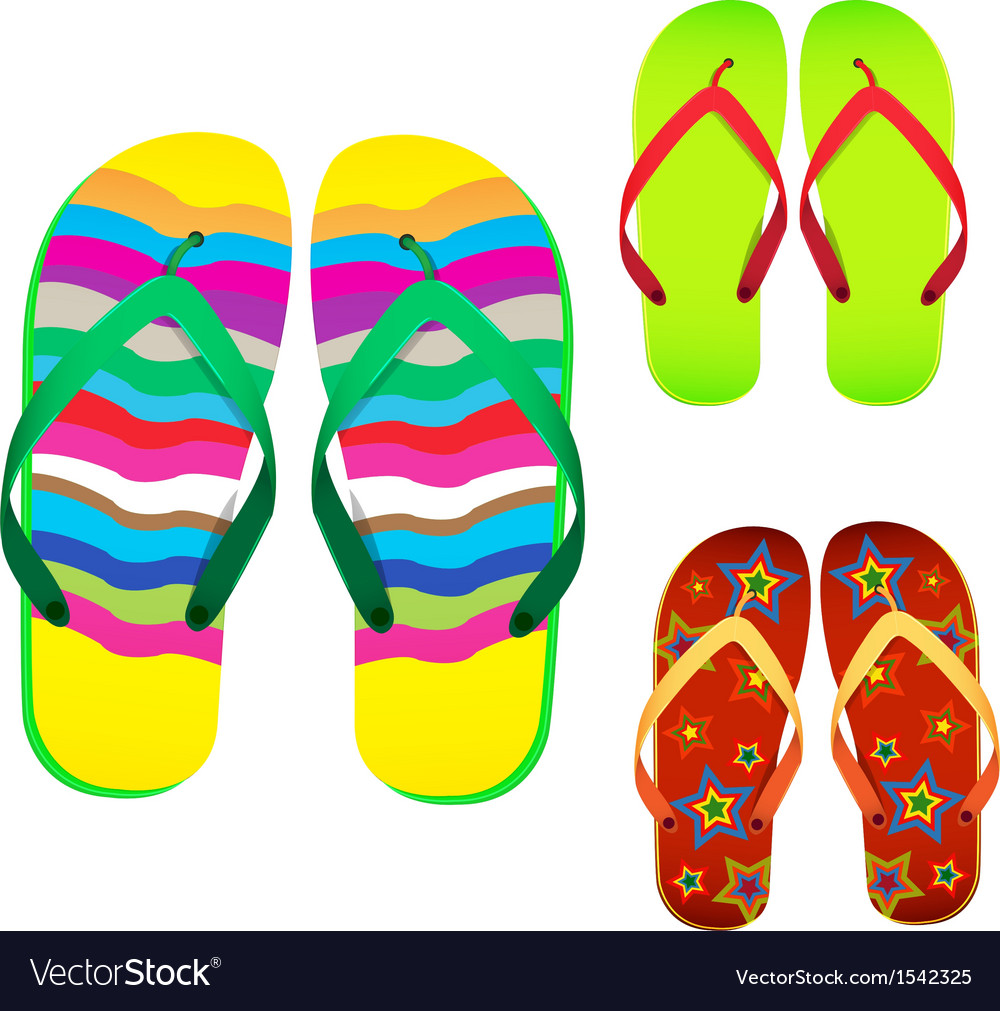 Colorful flip flop vector | Price: 1 Credit (USD $1)
