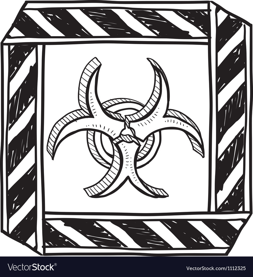 Doodle bio hazard vector | Price: 1 Credit (USD $1)