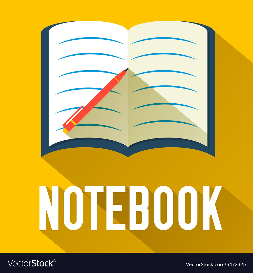 Flat notebook design concept vector | Price: 1 Credit (USD $1)