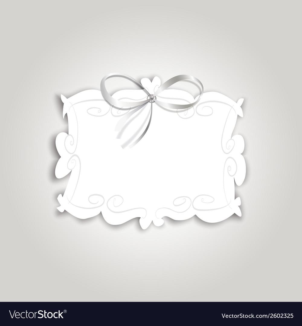 Frame ribbon vector | Price: 1 Credit (USD $1)