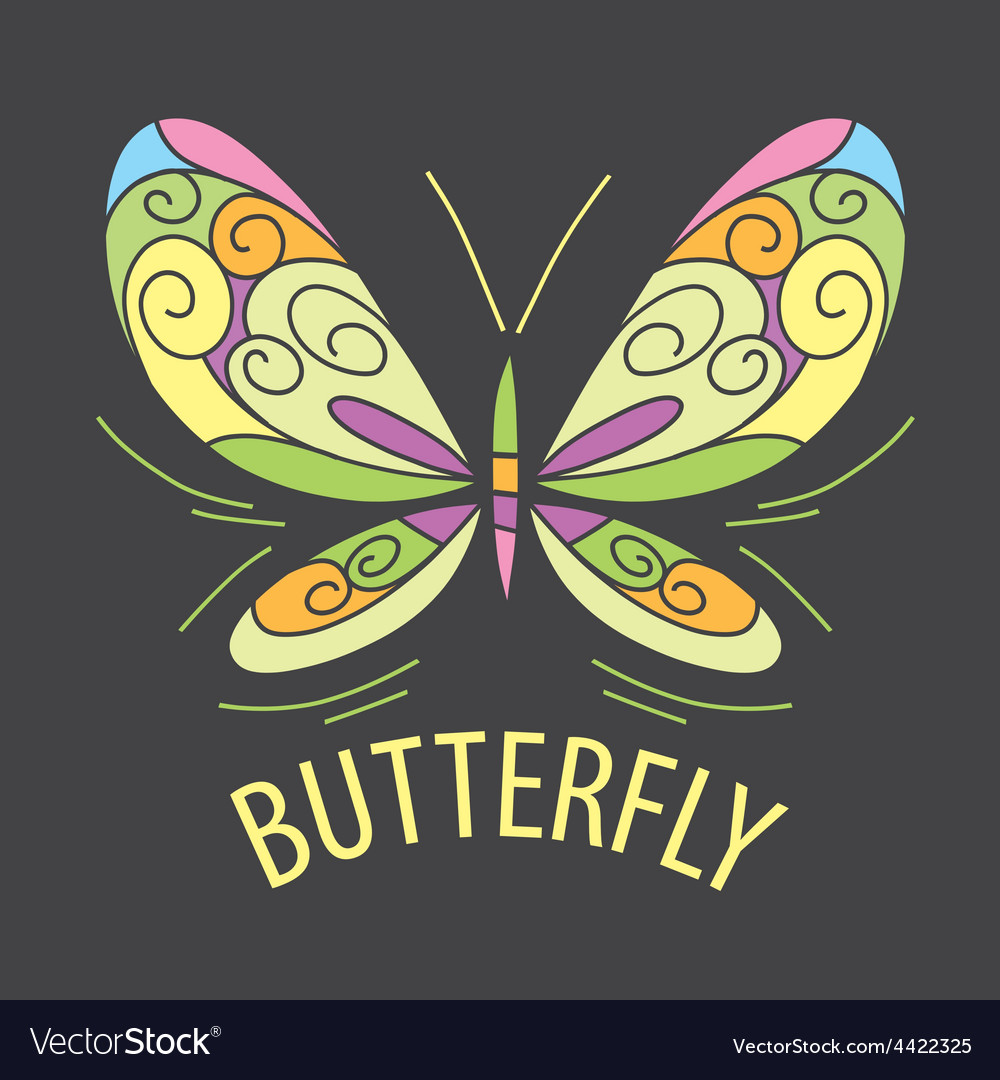 Logo color of the butterfly patterns vector | Price: 1 Credit (USD $1)