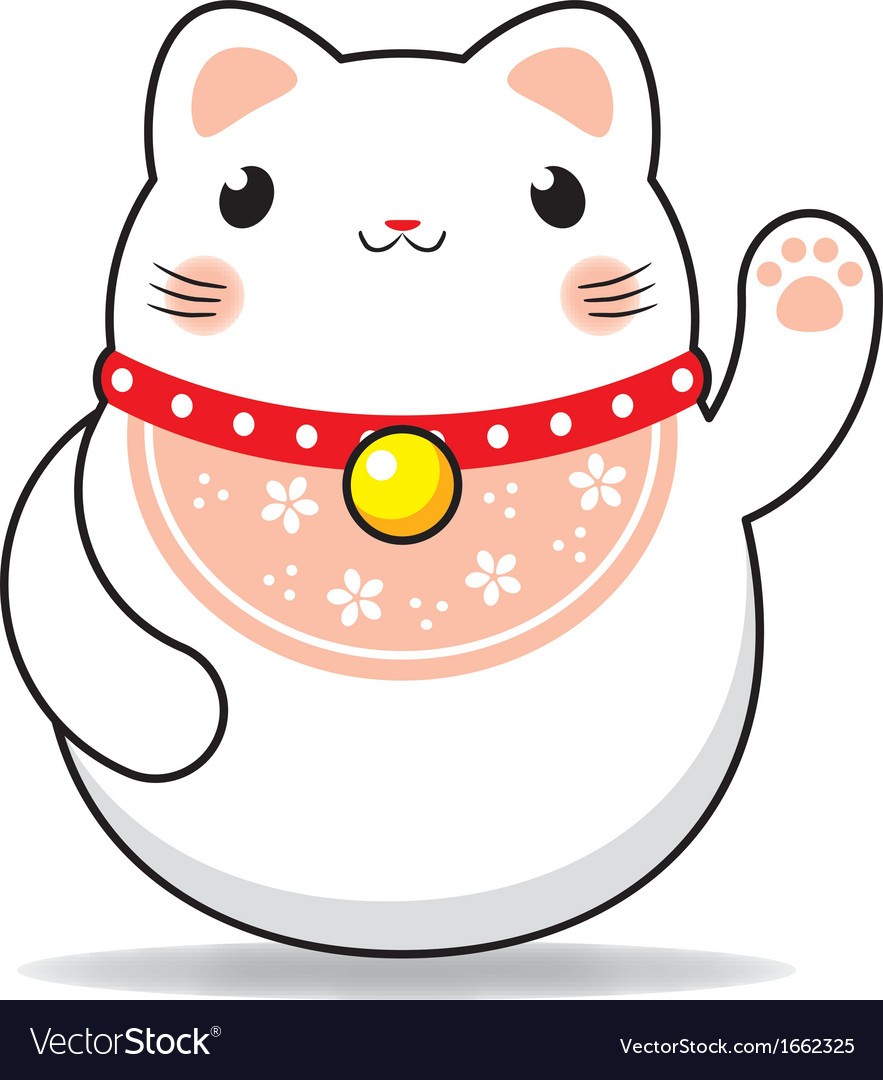 Maneki neko cat vector | Price: 1 Credit (USD $1)