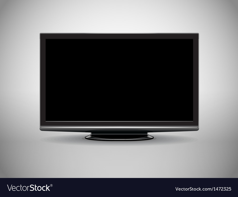 Modern full-hd tv vector | Price: 1 Credit (USD $1)