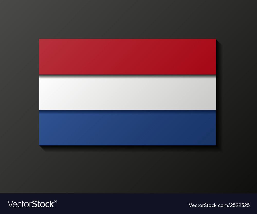 Modern style netherland flag vector | Price: 1 Credit (USD $1)