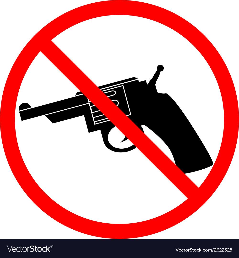 No revolver icon vector | Price: 1 Credit (USD $1)