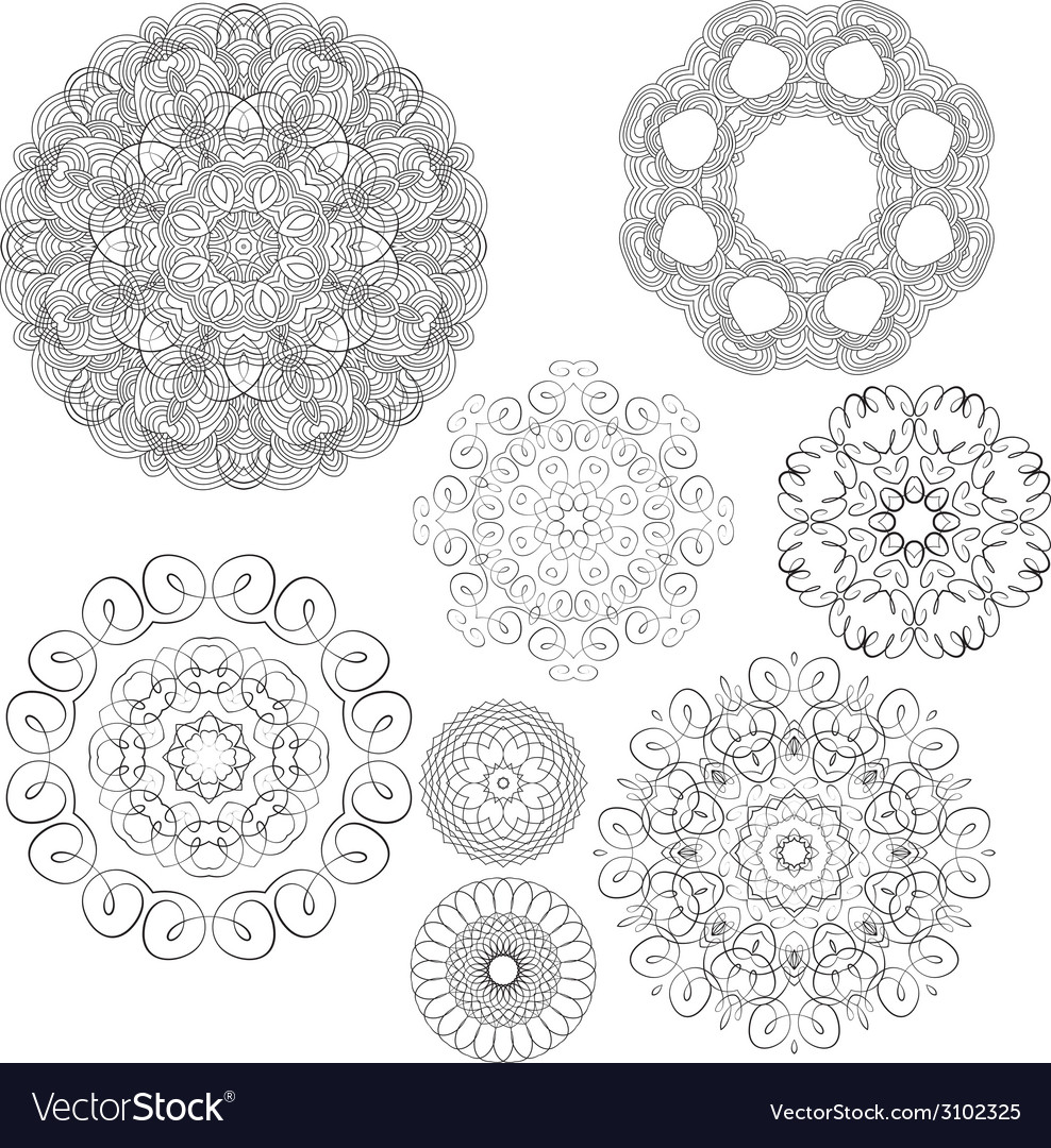 Set circle 1color 2 380 vector | Price: 1 Credit (USD $1)