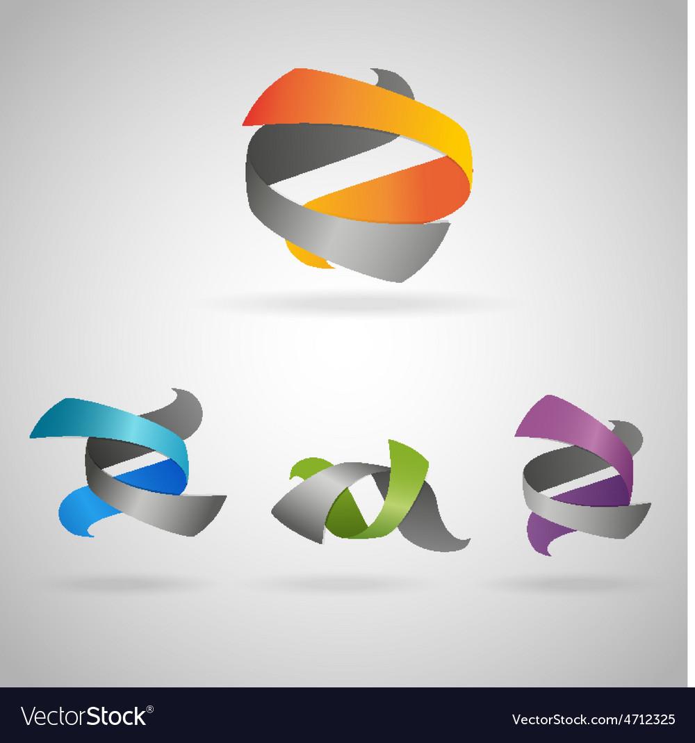 Twist icons vector | Price: 1 Credit (USD $1)