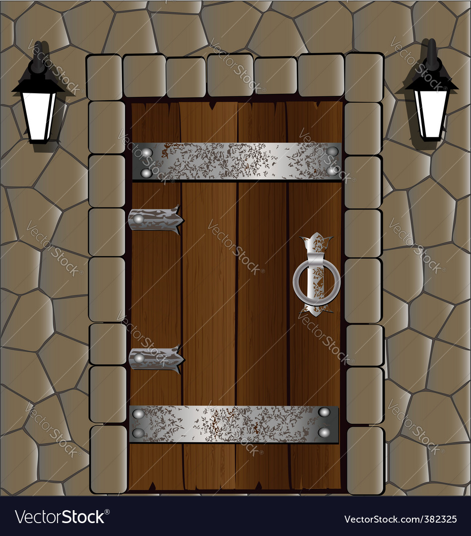 Wooden door vector | Price: 1 Credit (USD $1)
