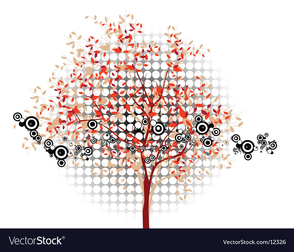 Abstract background tree vector | Price: 1 Credit (USD $1)
