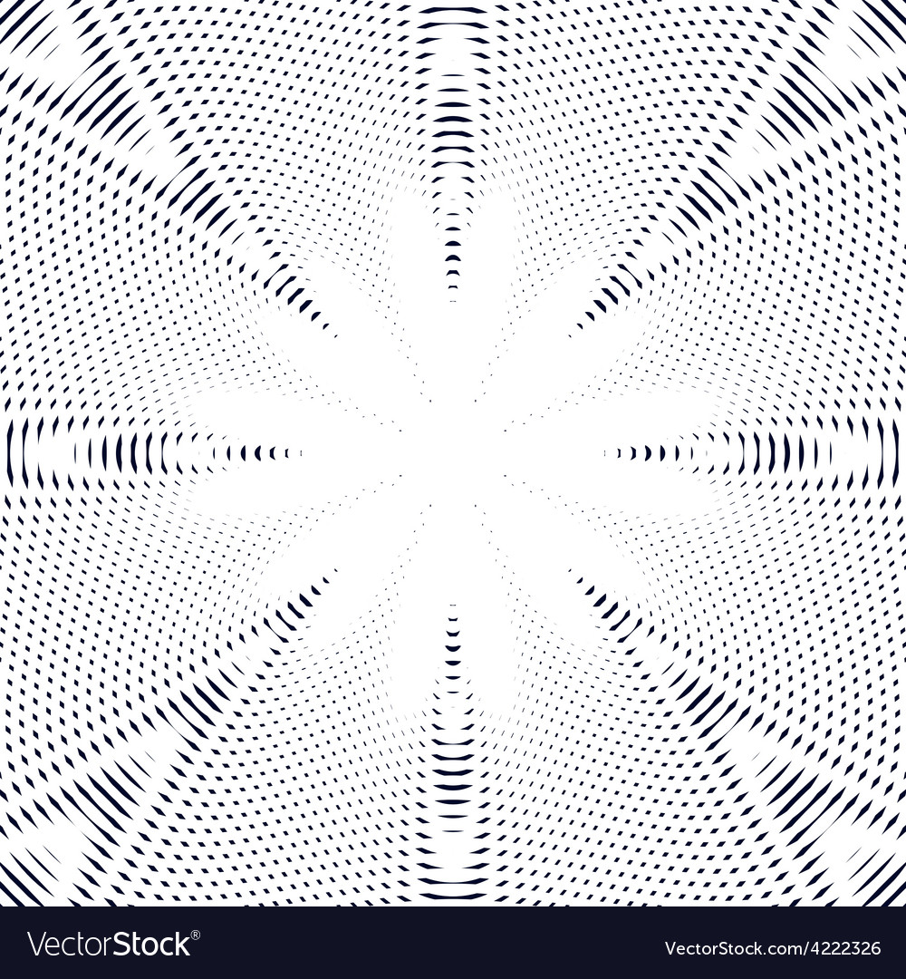 Black and white moire lines striped psychedelic vector | Price: 1 Credit (USD $1)