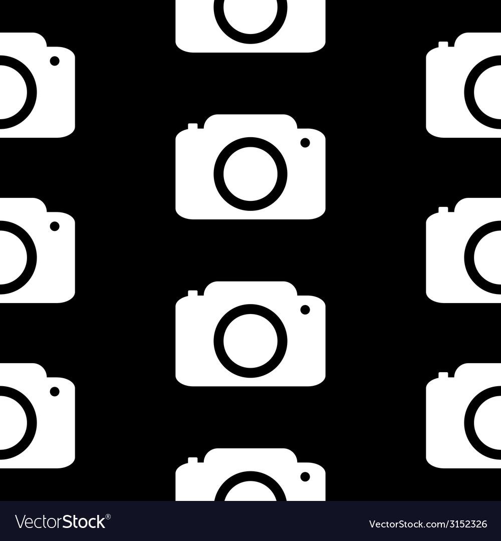 Camera symbol seamless pattern vector | Price: 1 Credit (USD $1)