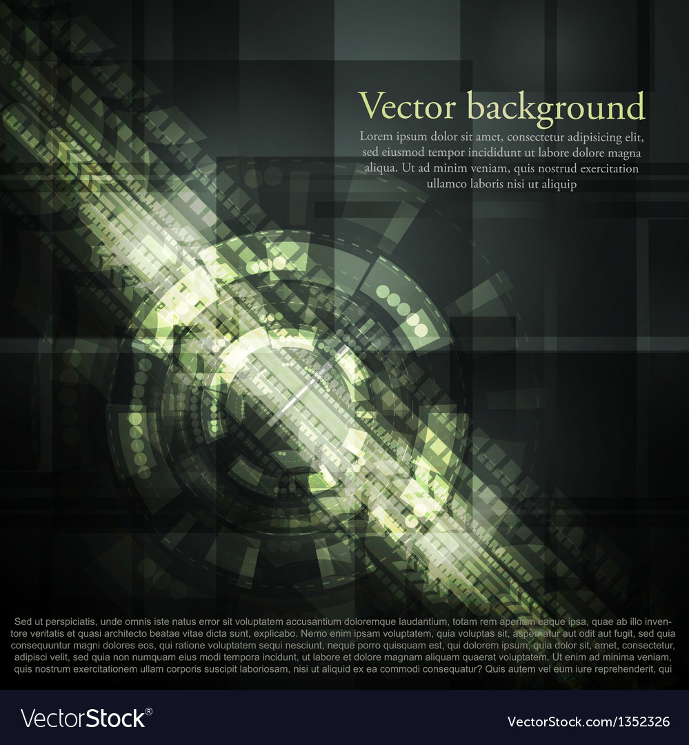 Dark abstract hi-tech background vector | Price: 1 Credit (USD $1)