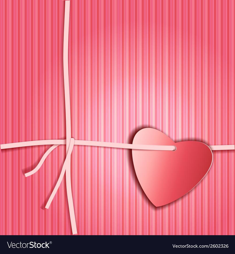 Heart paper present vector | Price: 1 Credit (USD $1)