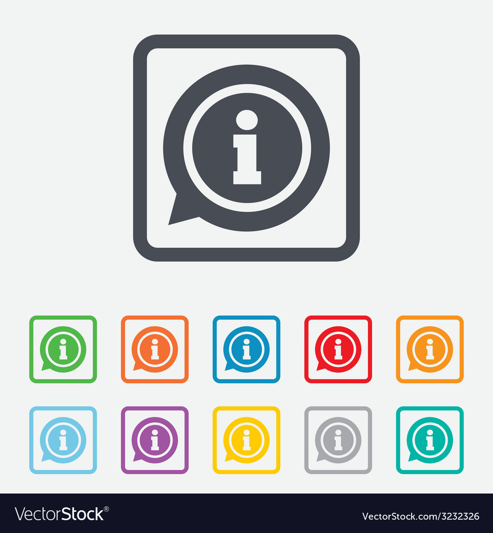 Information sign icon info symbol vector | Price: 1 Credit (USD $1)