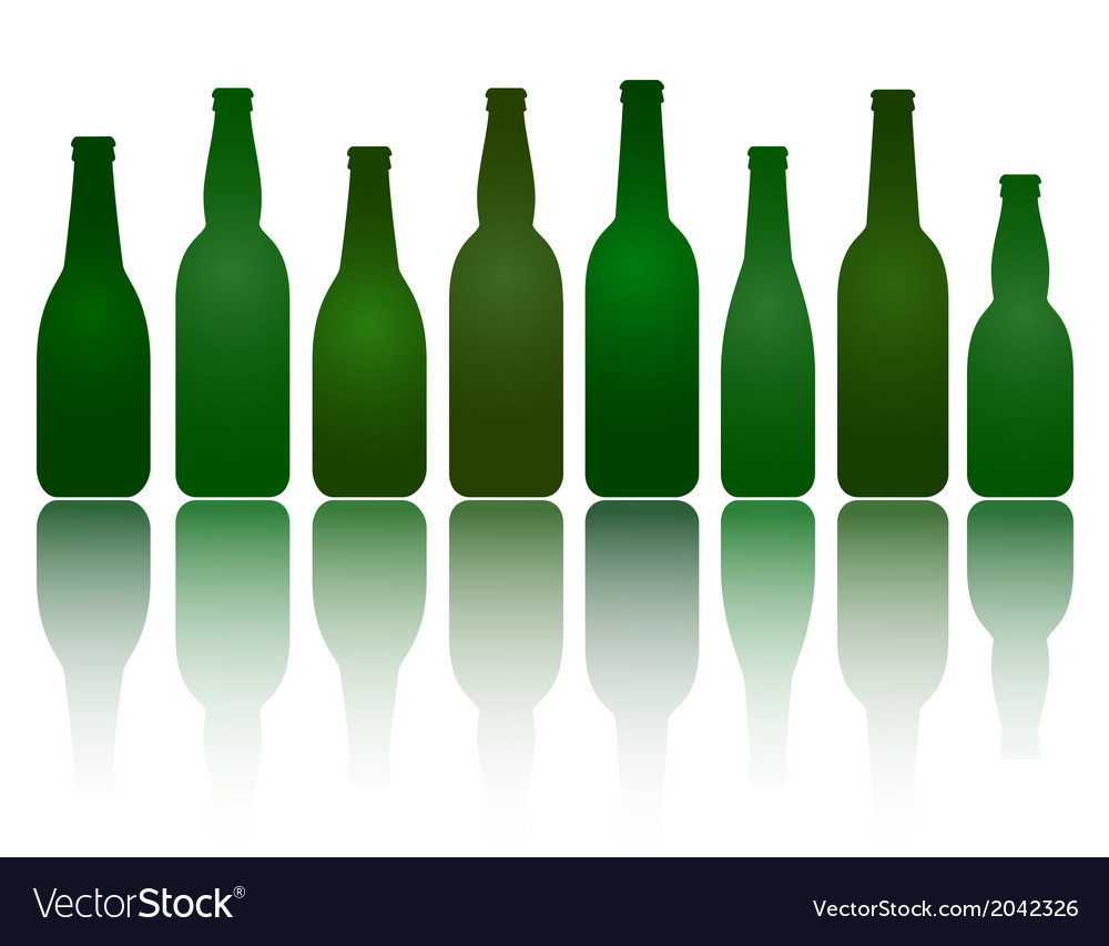 Isolated green beer bottles vector | Price: 1 Credit (USD $1)