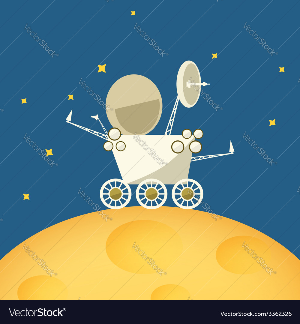 Planet rover on the moon vector | Price: 1 Credit (USD $1)