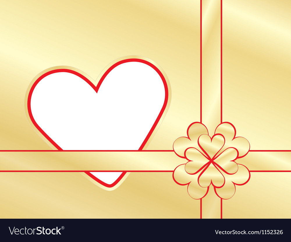 Present wrapper with valentine vector | Price: 1 Credit (USD $1)
