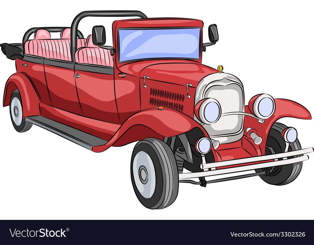 Retro car a vector | Price: 1 Credit (USD $1)