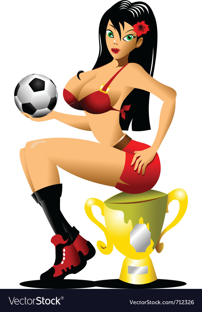 Sexy soccer vector | Price: 1 Credit (USD $1)