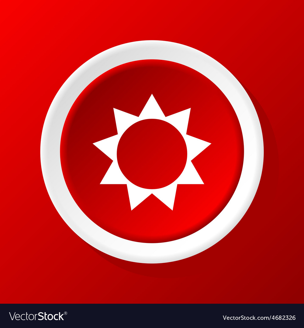Sun icon on red vector | Price: 1 Credit (USD $1)
